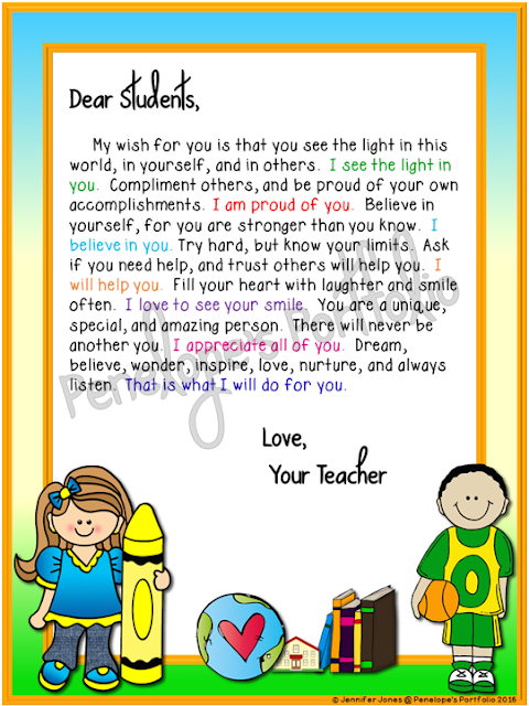 Letter to Student - School Version