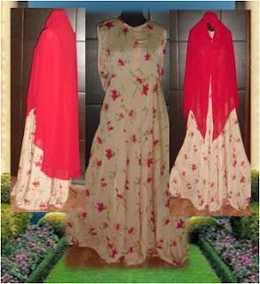 Aneka Model Motif Baju Busana Gamis Syar'i Trend 2017 Murah Grosir