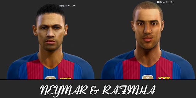 PES 2013 Rafinha and Neymar Face by Turtle Facemaker