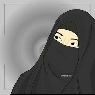 gambar kartun muslimah syari
