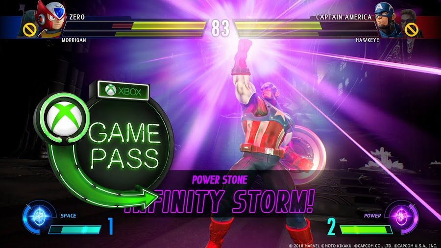 xbox game pass 2019 marvel vs. capcom infinite xb1
