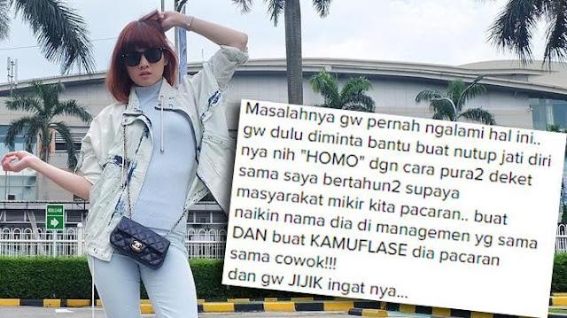 Mencengangkan! Chika Jessica Beberkan Masa Lalunya Yang Pernah Dekat dengan Cowok Homo, Ini Inisialnya!