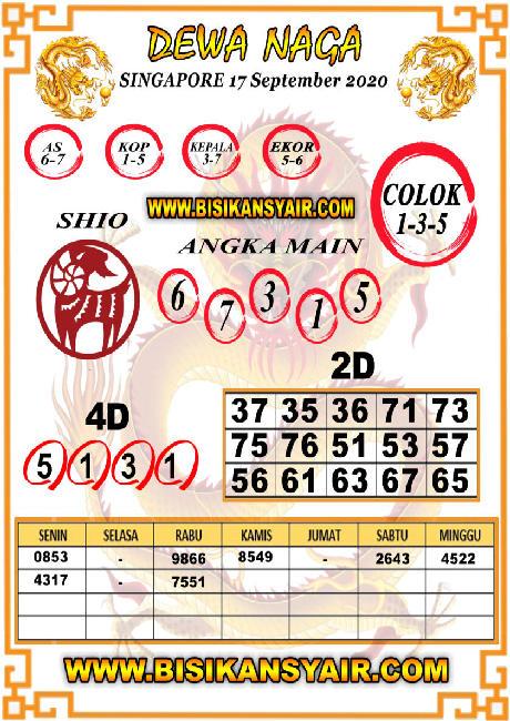 Kode syair Singapore Kamis 17 September 2020 105