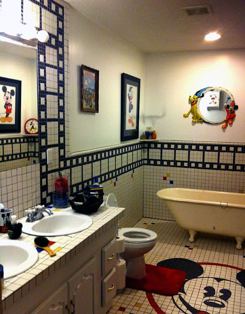 Design of Mickey Mouse Bathroom
