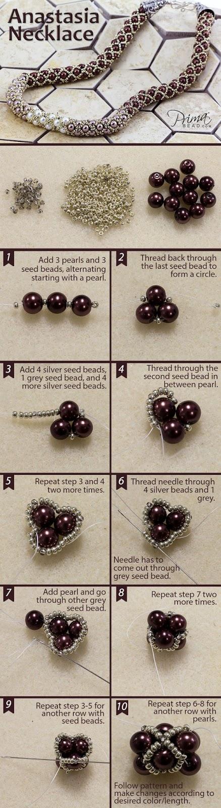 koralikowa biżuteria - wzory