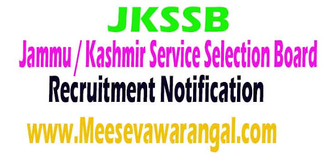 JKSSB (Jammu / Kashmir Service Selection Board) Recruitment