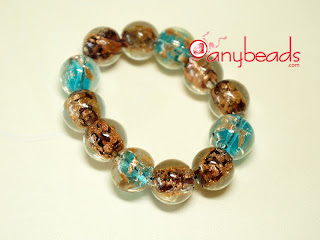 Tutorial of making a Stretch Bracelet by Glass Beads and Elastic Cord