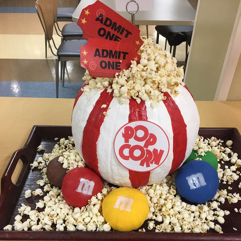 funny creative no carve pumpkin movie DIY