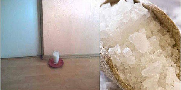 إليك ما يحدث إذا قمت بوضع كوب من الماء والملح والخل في ركن المنزل 24 ساعة ..مفاجأة لا يمكن توقعها!!