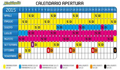 Calendario Mirabilandia
