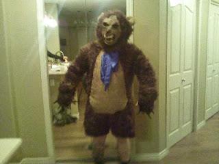 oso feroz frente al espejo