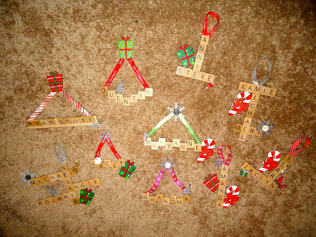 Scrabble Letter Christmas Ornaments Make