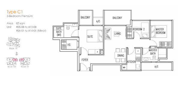 Trilive 3 Bedrooms Floor Plan
