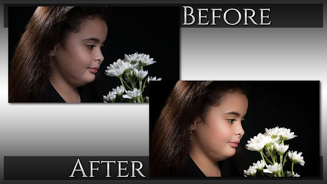 Creative Low Key Color Portrait Retouching - Before & After © Exodist Photography, All Rights Reserved