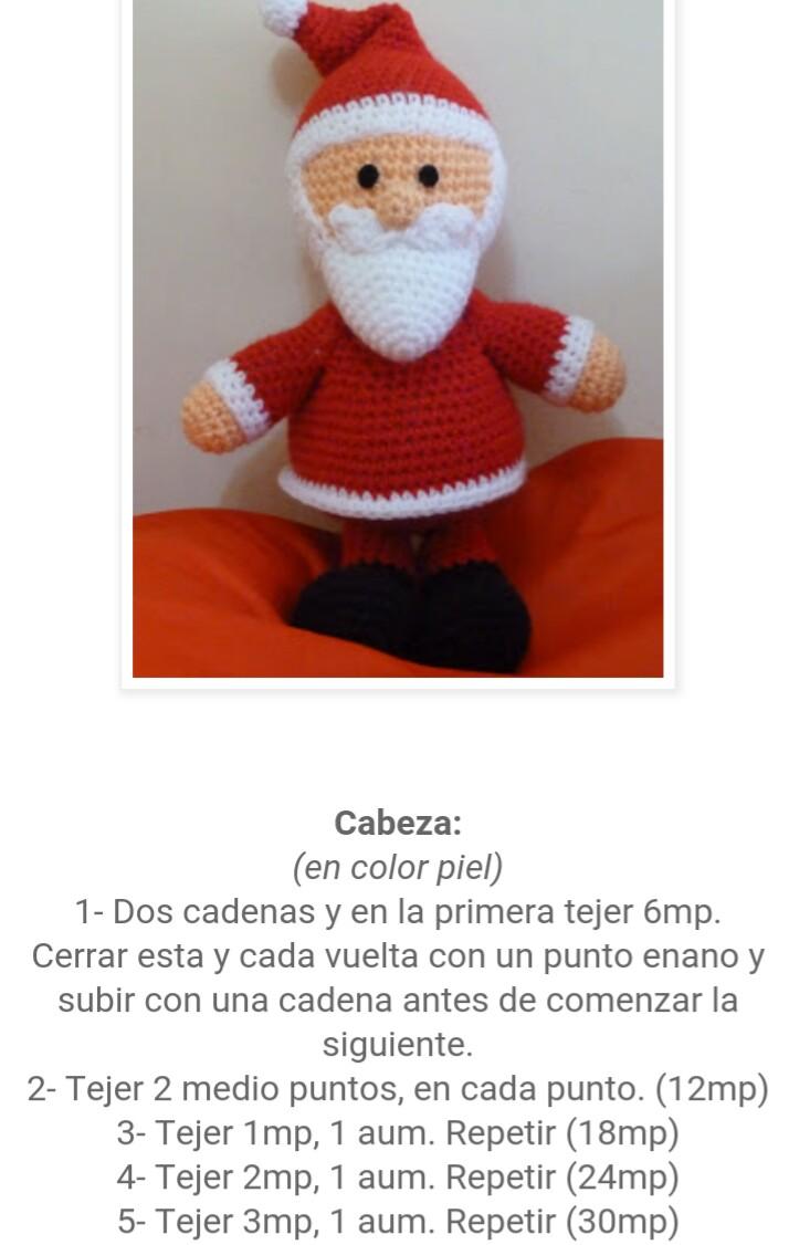 Imagenes Gratis De Papa Noel.Los Amigus De Paloma Papa Noel Amigurumi Patron Gratis