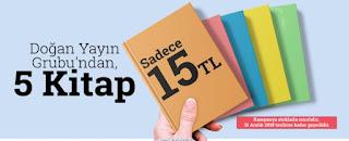 İdefix ile 5 Kitap 15 TL + Kargo Bedava