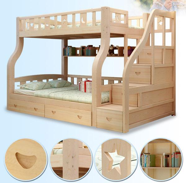 giường tầng được khắc tinh sảo