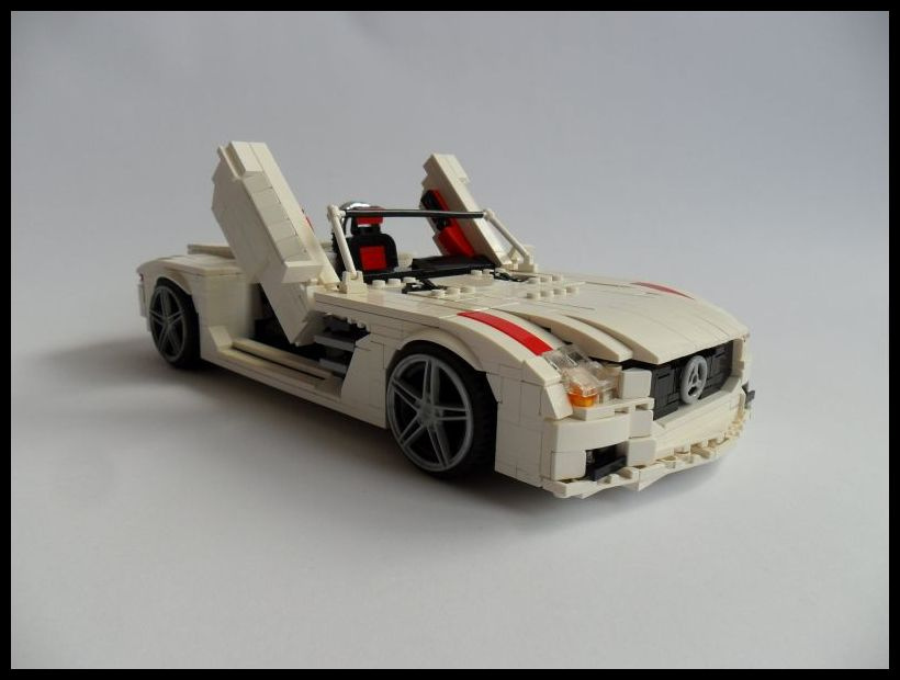 lego moc mercedes benz sls roadster. Black Bedroom Furniture Sets. Home Design Ideas