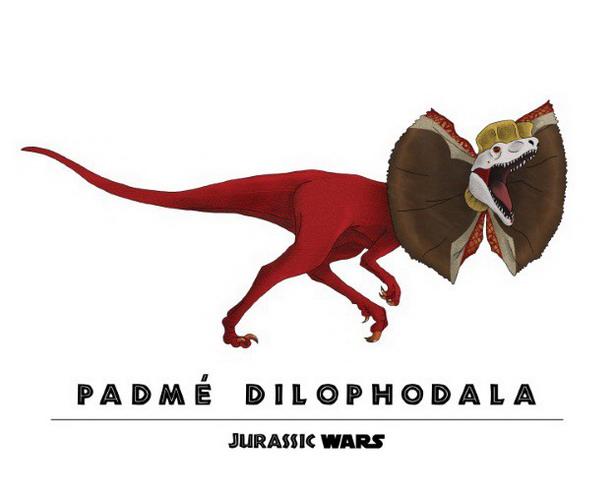 Padme Amidala + Dilophosaurus = Padme Dilophdala