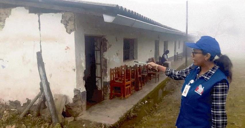 Colegios y centros de salud de Ayabaca afectados por lluvias - Piura