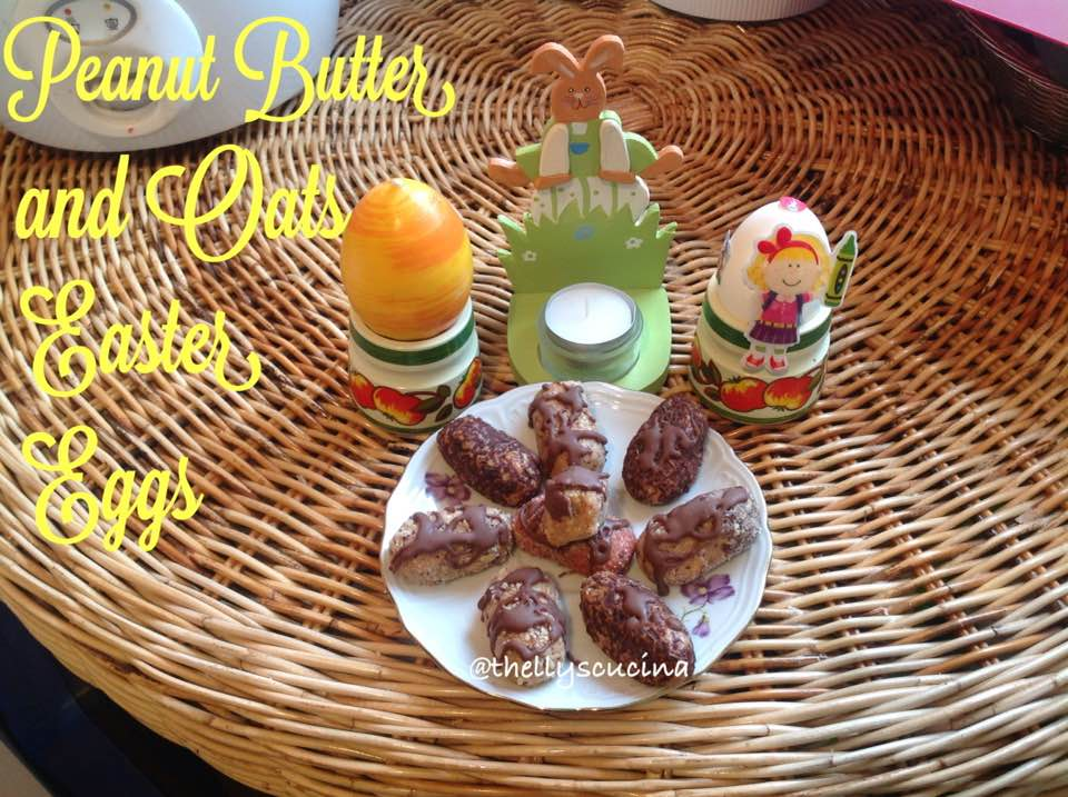 No Bake Peanut Butter and Oats Easter Eggs