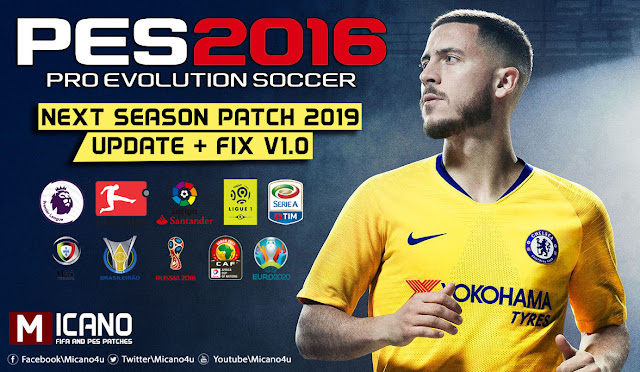 PES 2016 Next Season Patch 2019 Update v1 0 - Released 02 08 2018
