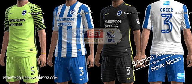 PES 2013 Brighton Kit Season 2016-2017