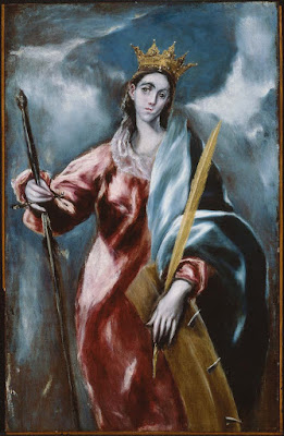 "El Greco (Domenikos Theotocopoulos), 1610–14 ""Saint Catherine"" Museum of Fine Arts, Boston."