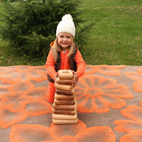 Lotes Toys Wooden Giant Pyramid, square