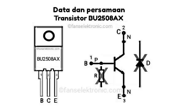 Persamaan Transistor BU2508AX