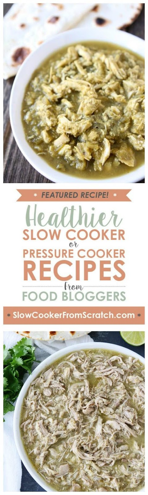 Slow Cooker or Instant Pot Chicken Chile Verde from Two Peas and Their Pod found on SlowCookerFromScratch.com
