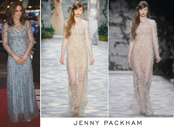 Kate Middleton wore Jenny Packham Gown Fall 2017