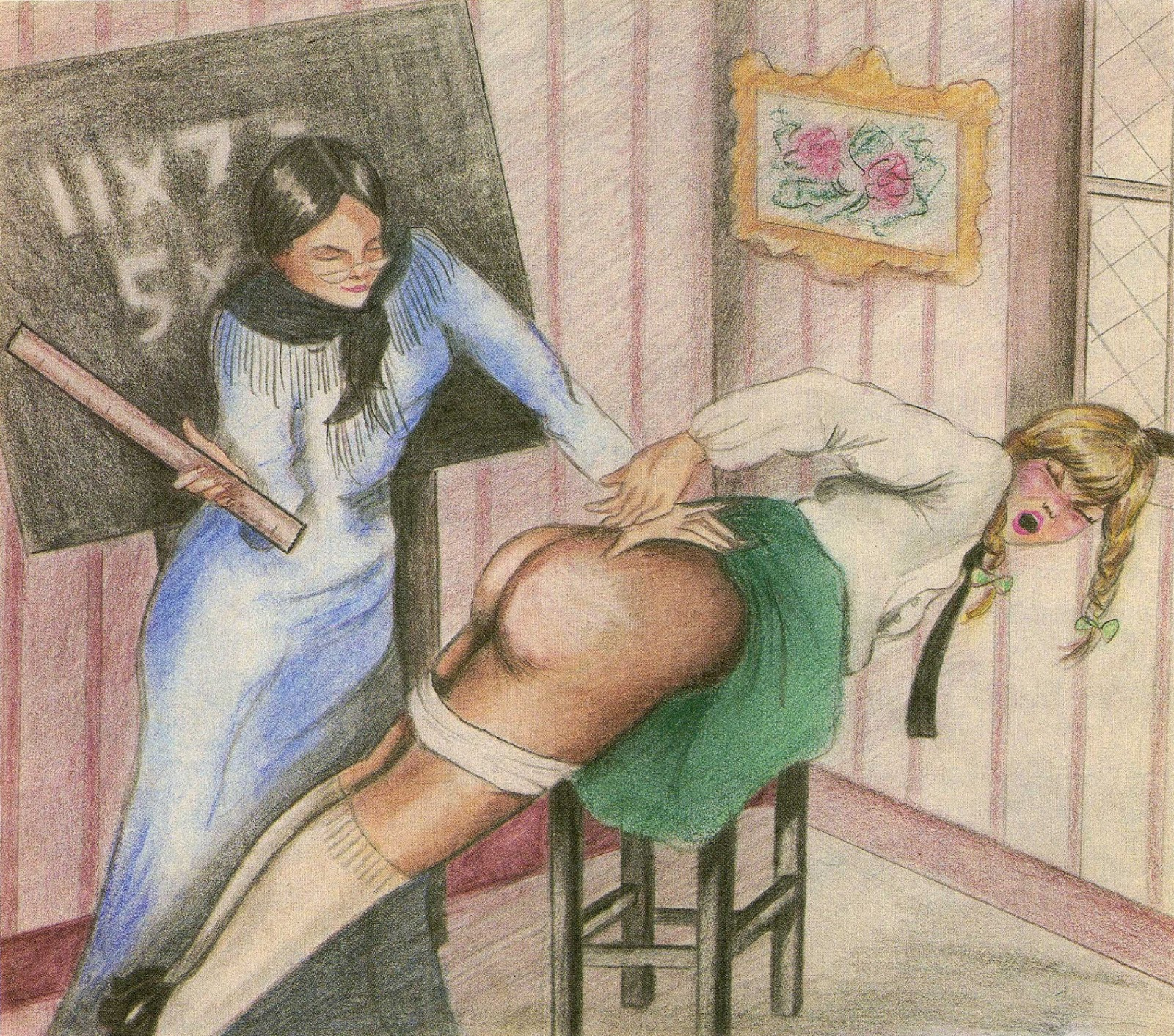 Spanked girl video non pornographic