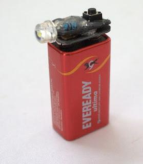 lampu led dari baterai bekas