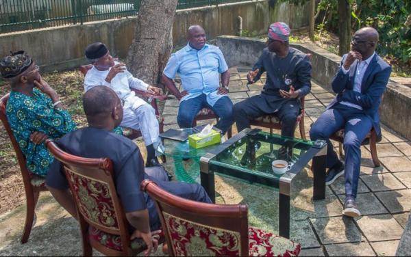 Photos: Osinbajo holds consultations with Tinubu, Ambode, Fashola, Sanwo-olu