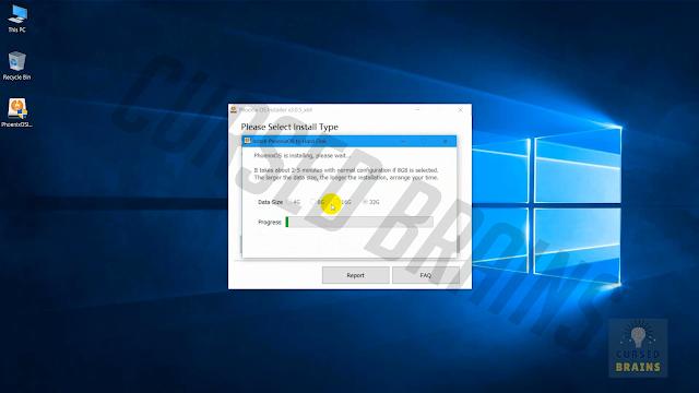 Phoenix OS -  Wait installation completion