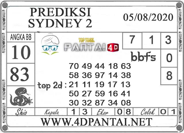 PREDIKSI TOGEL SYDNEY 2 PANTAI4D 05 AGUSTUS 2020