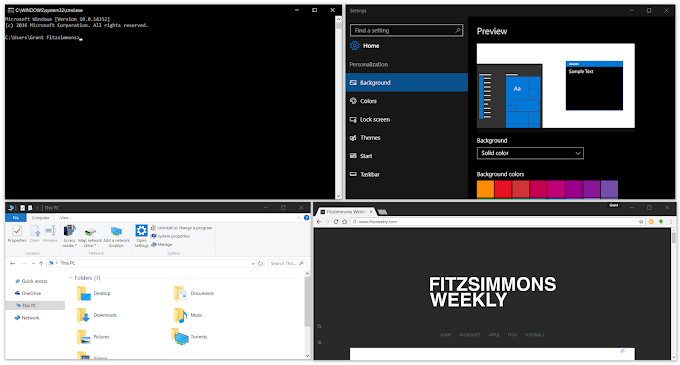 How to Get Black Titlebars on Windows 10