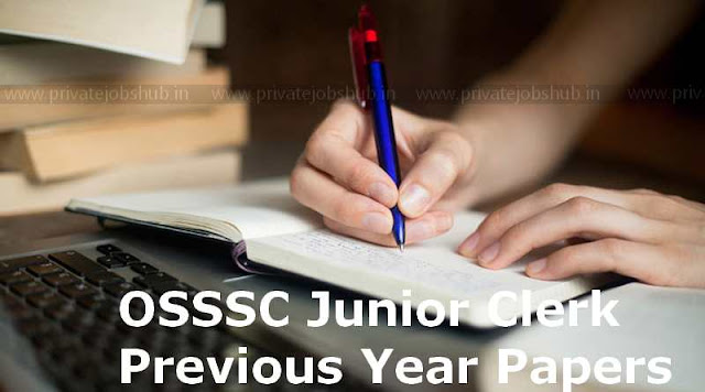 OSSSC Junior Clerk Previous Year Papers