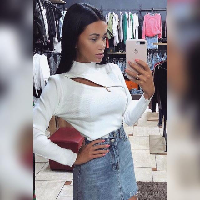 Μακρυμάνικη άσπρη γυναικεία μπλούζα ASHANTI