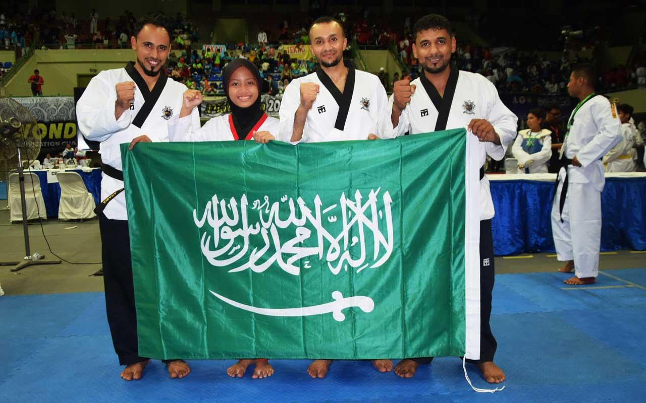 Bersama Atlit Taek Wondo Kerajaan Arab Saudi