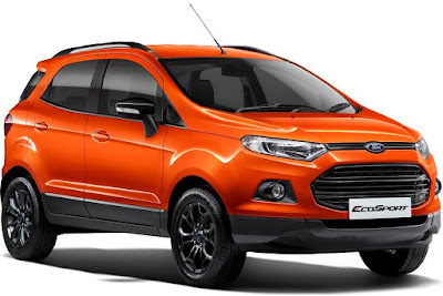 New 2016 Ford EcoSport orange crossover