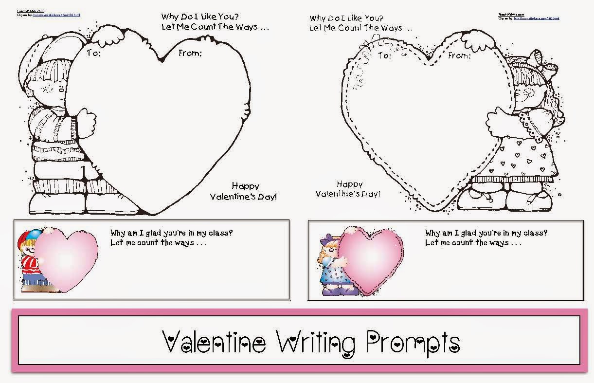 Classroom Freebies Valentine Writing Prompts