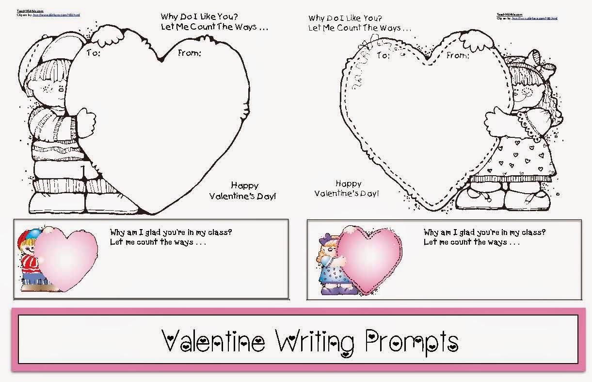 Classroom Freebies Valentine Writing Prompts