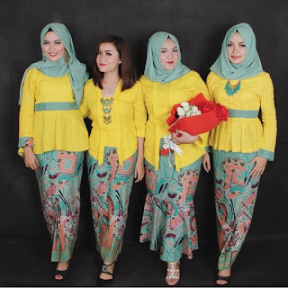 Model Kebaya Kartini Warna Kuning