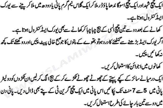 uric acid ka desi ilaj in urdu
