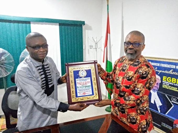 "Agbazuere Installed As Abia Printers Patron, Receives ""Most Friendly Chief of Staff"" Award"