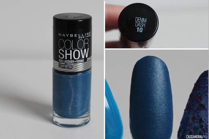 MAYBELLINE // Color Show Nail Polishes - Denim Dash - cassandramyee