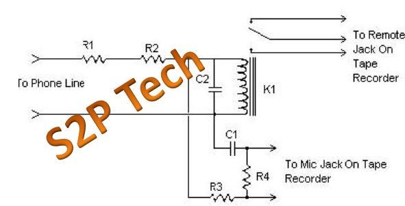 simple phone tap circuit