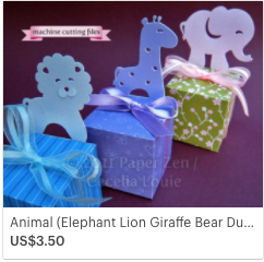 SVG Animal Gift Box Elephant Lion Giraffe